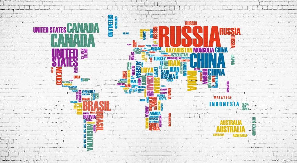 手绘抽象世界地图